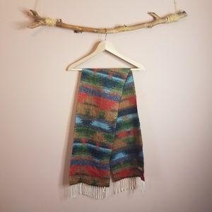 italian knit southwest rainbow scarf